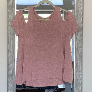 Tops - Mossimo size M striped cold-shoulder top